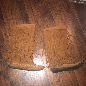 Women's Fringe Boots